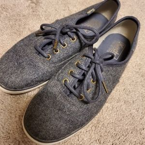 Kids gray wool sneakers